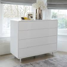 white chest of drawers. Notch Wide Chest Of Drawers White E