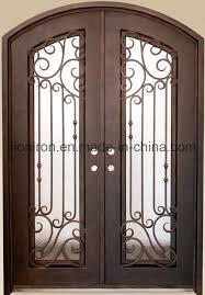china low tempered safety glass doors iron front doors china exterior steel material door iron art designs glass doors