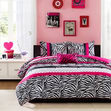 tags pink white and black bedding