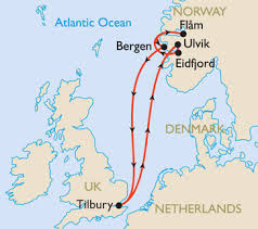 ms marco polo norwegian fjords cruises itinerary map