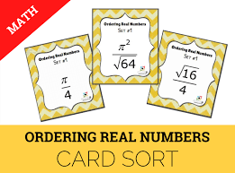 8 2d ordering real numbers card set cover