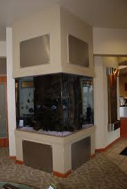 650 Gallon home plate shaped custom aquarium. Inhabitants are aggressive  saltwater fish and live rock