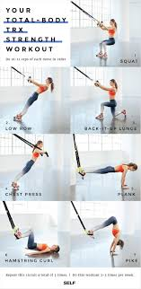 Printable Trx Exercise Chart A Total Body Trx Strength Workout Self