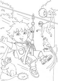 Go Diego Coloring Pages For Kids
