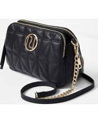 Here's a Great Price on River Island Black quilted chain cross ... & River Island Black quilted chain cross body bag Adamdwight.com
