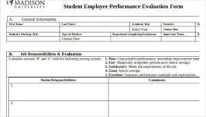Free 20 Employee Evaluation Forms Doc