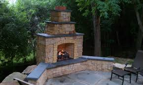 stunning outside fireplaces stunning kasota outdoor fireplace with bluestone caps and gas log burnsville