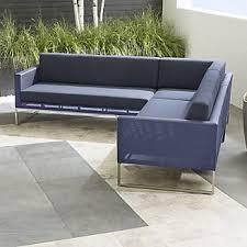 contemporary patio furniture. Dune 3-Piece Sectional Sofa With Cushions Contemporary Patio Furniture L