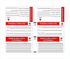 Emergency Phone Number Template Call List Out Pdf