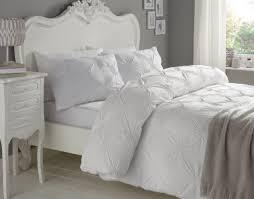 elissa rosette white cotton duvet cover set double