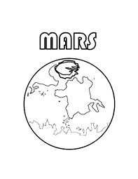 Small Picture Mars the Fourt Planet in Solar System Planet Coloring Pages