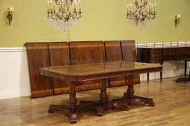 elegant square black mahogany dining table:  foot regency style dining table for   persons