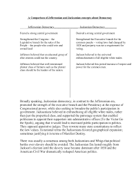 A venn diagram is a type of graphic organiser. A Comparison Of Jeffersonian And Jacksonian Concepts About Democracy
