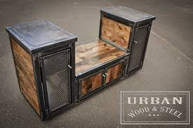 industrial steel furniture. Urban Wood \u0026 Steel Is Home To All Things Industrial, Weathered, Reclaimed And Rugged. They Craft Unique Furniture, Merchandising Equipment Decor Using Industrial Furniture U