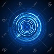 Light Digital Abstract Technology Circles And Digital Light Vector Background
