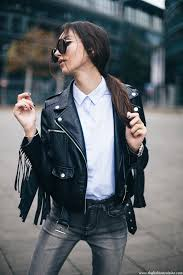 missguided fringe leather jacket forever 21 grey ripped