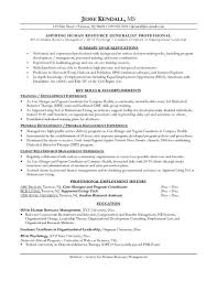 Resume Template For Career Change Enchanting Example Human Resources Career Change Resume Free Sample Ideal