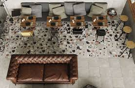 try terrazzo tile for stunning floor designs