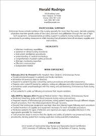 professional endoscopy nurse templates to showcase your talent    resume templates  endoscopy nurse