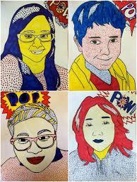exploring art elementary art 6th grade roy lichtenstein self portraits