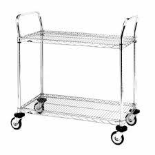 com metro mw series chrome plated wire utility cart 2