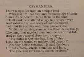 p b shelley ozymandias  audio