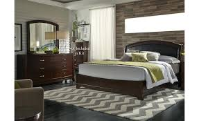 Fascinating Leather Bedroom Set Furniture Black Sets Modern Queen ...