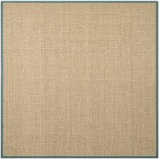 nice remarkable square brown sisal rug ikea with blue border color