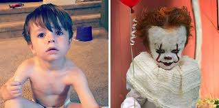 themed photoshoot with his baby brother