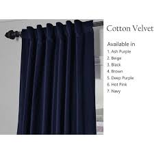 amore beaute handcrafted navy blue cotton velvet curtain customizable 6 900 inr