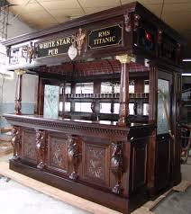 Mahogany Classical English Canopy Home Pub Wine Liquor Bar W - Home liquor bar designs