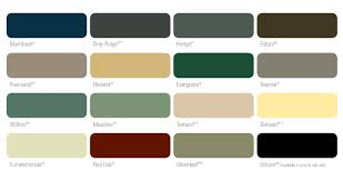Colorbond Fencing Colour Chart Panel Color Chart Bears