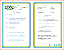 silent auction program template free event program templates word prade co lab co