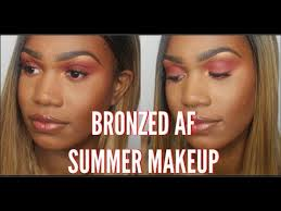 bronze makeup tutorial for dark skin brown skin how to bronze for woc
