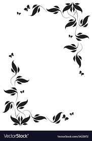 Vignette Design Corner Vignette Butterflies And Leaves
