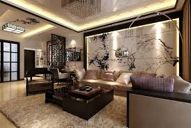 Asian-inspired living room with screen