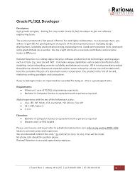 Pl Sql Resume Resume For Study