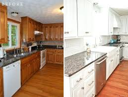 painted white kitchen cabinets before and after. Brown Kitchen Cabinets Painted White Paint Inspiring Reveal Minimalist Before And After P