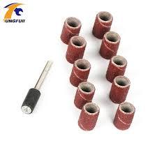 drum sander for drill. 11pcs/lot sanding bands 6.35mm with drum sander for drill bits machine grinding sand
