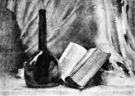 how to draw charcoal drawing lesson free art book fig 11 a study in charcoal of a still life