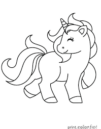 Cute Things To Color Unicorn Coloring Pages Printable Cute My Little