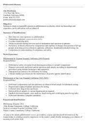 resume phlebotomist template sample phlebotomy examples Home - entry level  phlebotomy resume