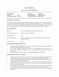 Medical Interpreter Resume Interpreter Resume No Experience Inspirational Delighted Medical 9