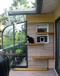 awesome outdoor cat enclosure connected to house attached source uk diy canada for window ireland