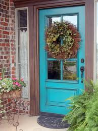 give your house personality by painting the front door a bright color then when your