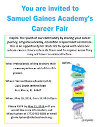 2016 samuel s gaines academy k 8 thank you careerfair