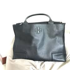 tory burch ella canvas leather tote women s fashion bags wallets on carou