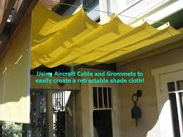 slide wire canopy kit. Exellent Kit Use A Wire Cable Set Place Grommets Where You Want The Peaks And Slide  Thru Cable See My Other Pin DIY RETRACTABLE SHADE AWNING FOR UNDER  Inside Slide Wire Canopy Kit I