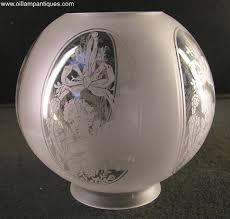 cherubs etched glass globe shade