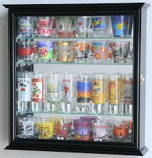 cabinet shot glass inspirational shooter display case rack holder box s that cases awesome shot glass shelves case michaels display